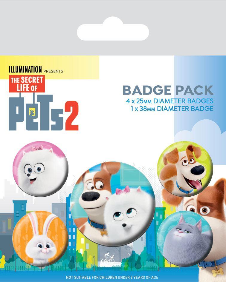 The Secret Life of Pets 2 Pin Badges 5-Pack For Pet's Sake