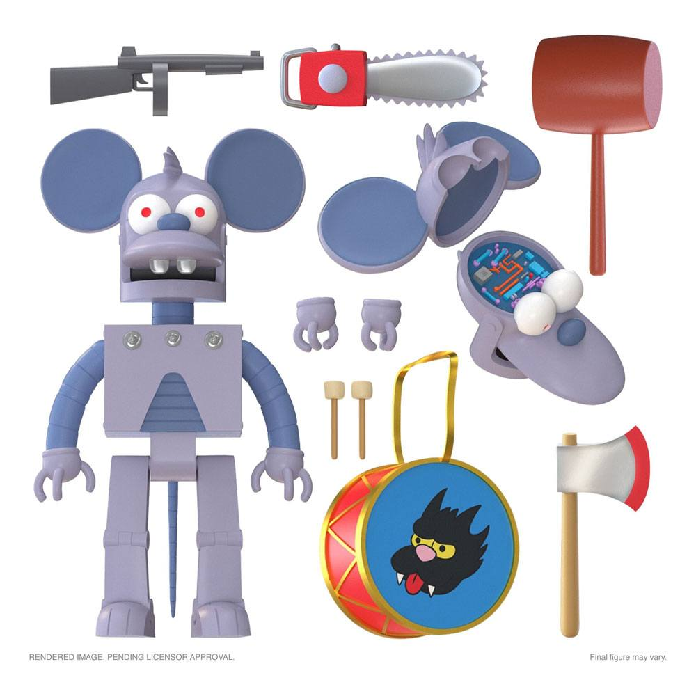 The Simpsons Ultimates Action Figure Robot Itchy 18 cm