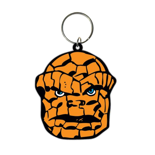 Marvel Comics Rubber Keychain The Thing 6 cm