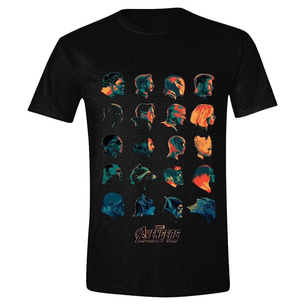 Avengers Infinity War T-Shirt Character Profile Size S