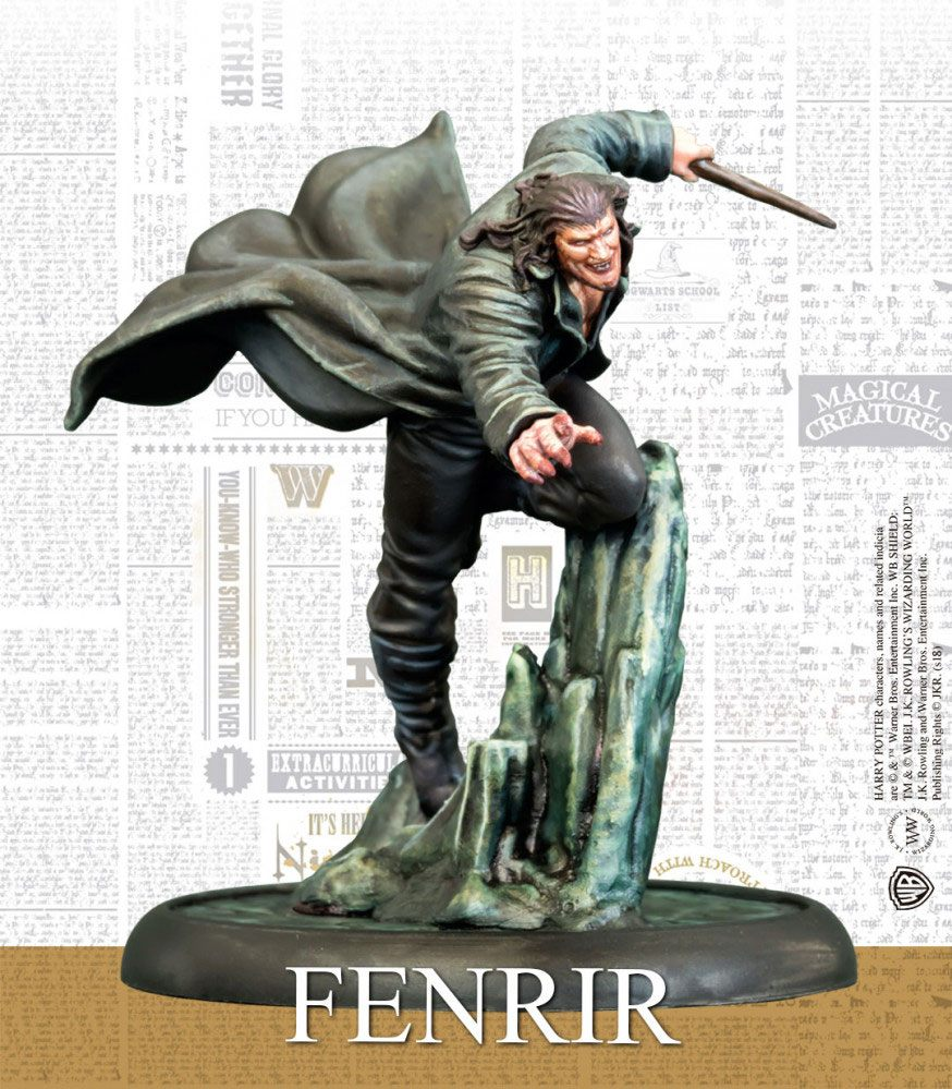 Harry Potter Miniature 35 mm Fenrir Greyback *English Version*