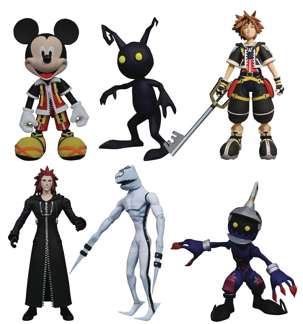 Kingdom Hearts Select Action Figures 18 cm 3-Packs Series 1 Assortment (6)