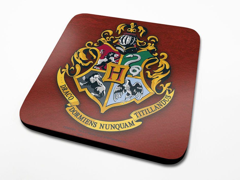 Harry Potter Coaster Hogwarts Crest 6-Pack