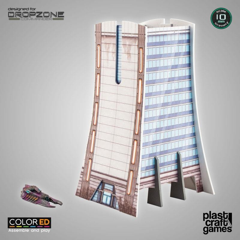 Dropzone Commander ColorED Miniature Gaming Model Kit 10 mm Office Building