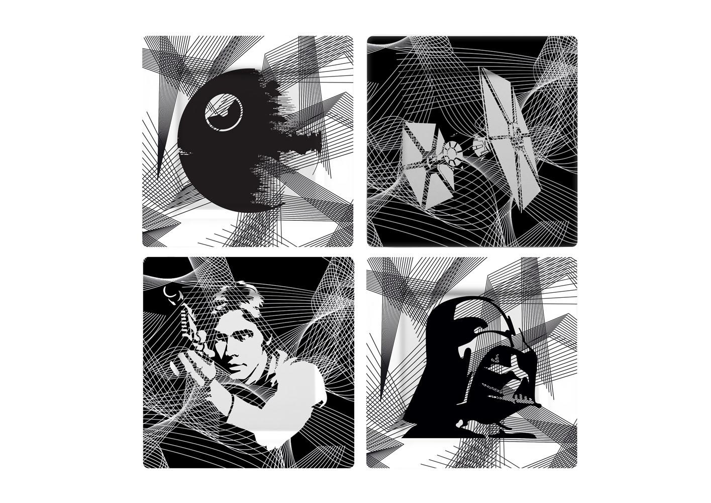 Star Wars Plates 4-Pack Intergalactic