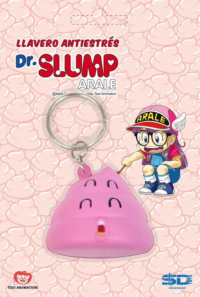 Dr. Slump Key-Chain with Anti-Stress Figure Unchi 5 cm