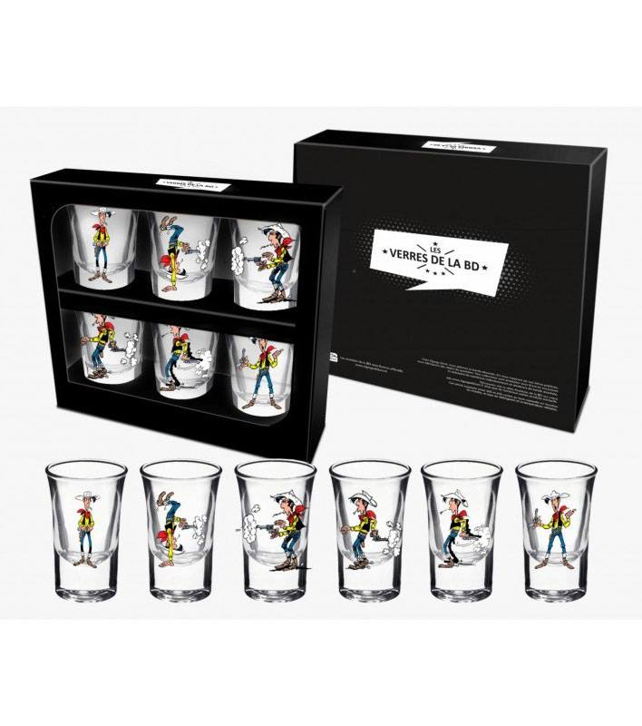 Lucky Luke Shotglass 6-Pack Firing Positions