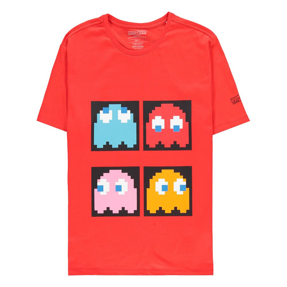 Pac-Man T-Shirt Red Background Size L