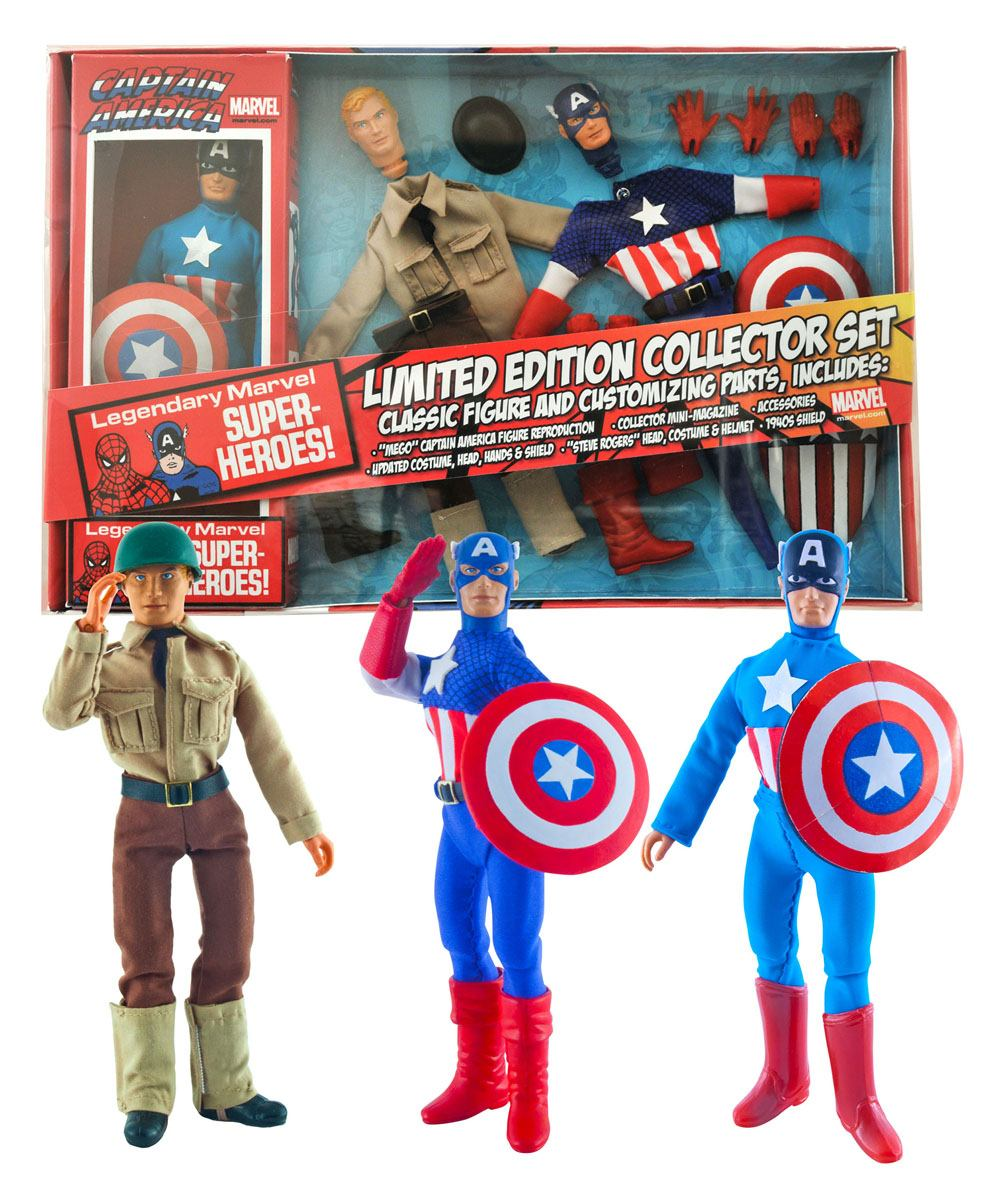 Marvel Retro Action Figure Captain America Limited Edition Collector Set 20 cm