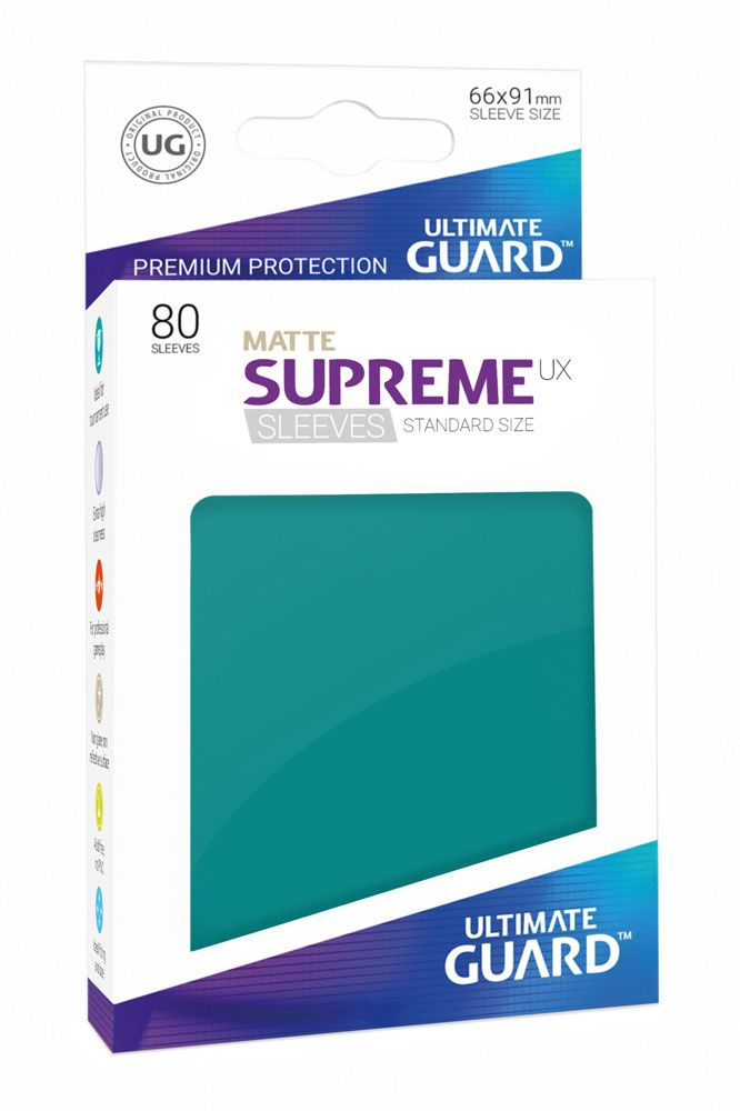 Ultimate Guard Supreme UX Sleeves Standard Size Matte Petrol Blue (80)