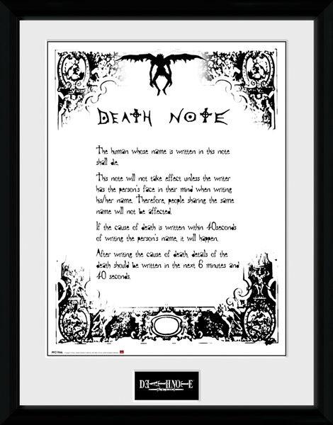Death Note Framed Poster Deathnote 45 x 34 cm