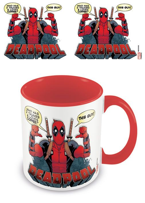 Deadpool Coloured Inner Mug 2 Thumbs