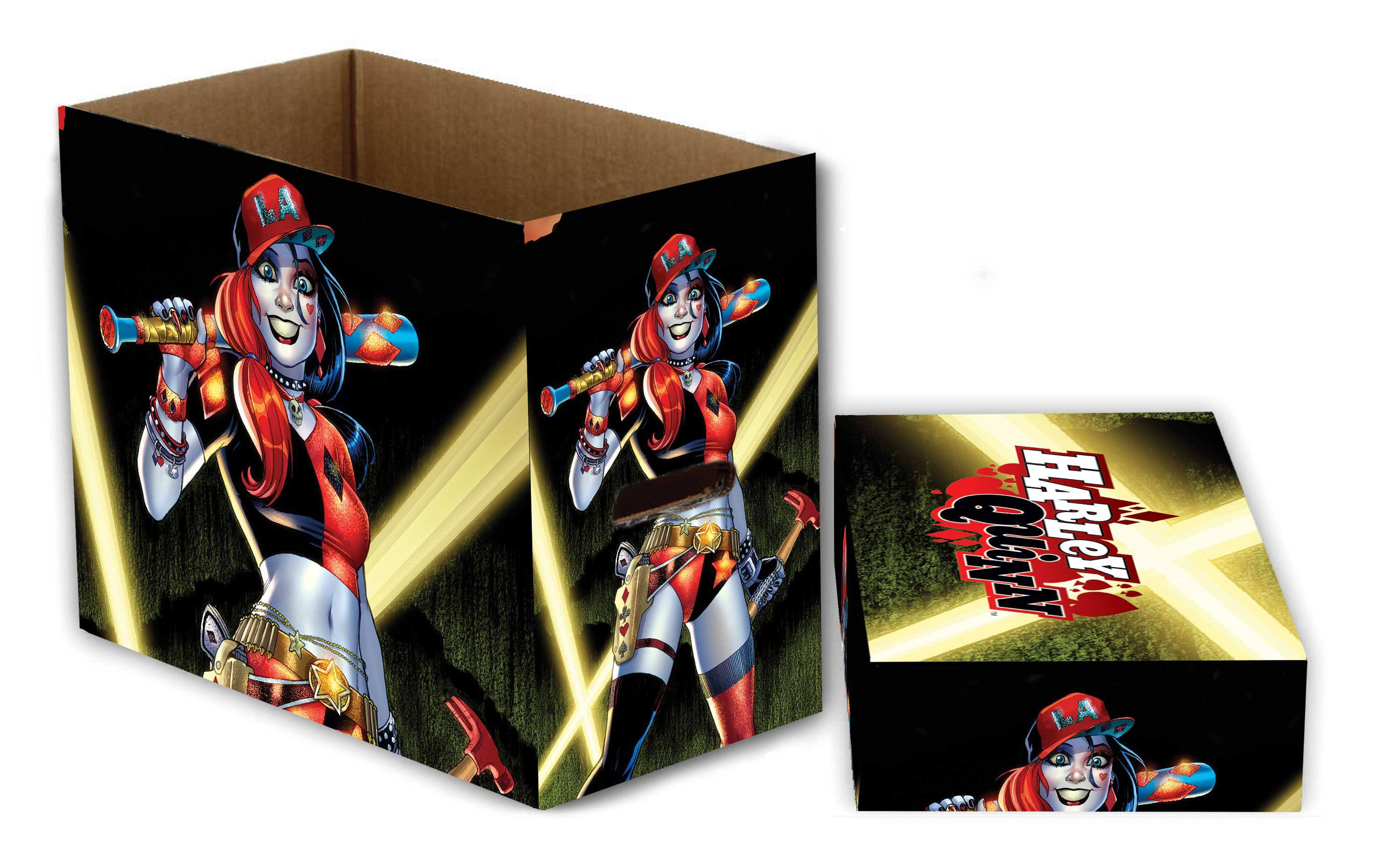 DC Comics Storage Boxes Harley Quinn Lights 23 x 29 x 39 cm Case (5)