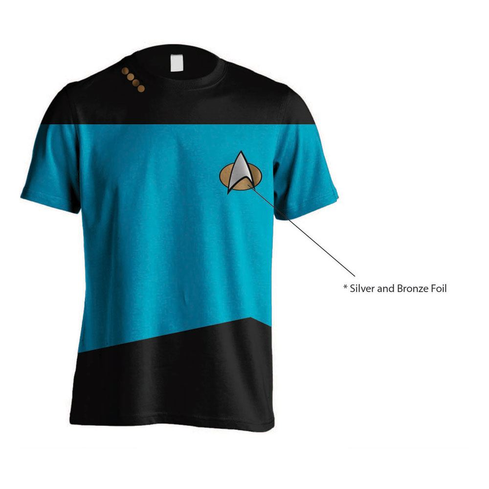 Star Trek T-Shirt Uniform Blue Size L