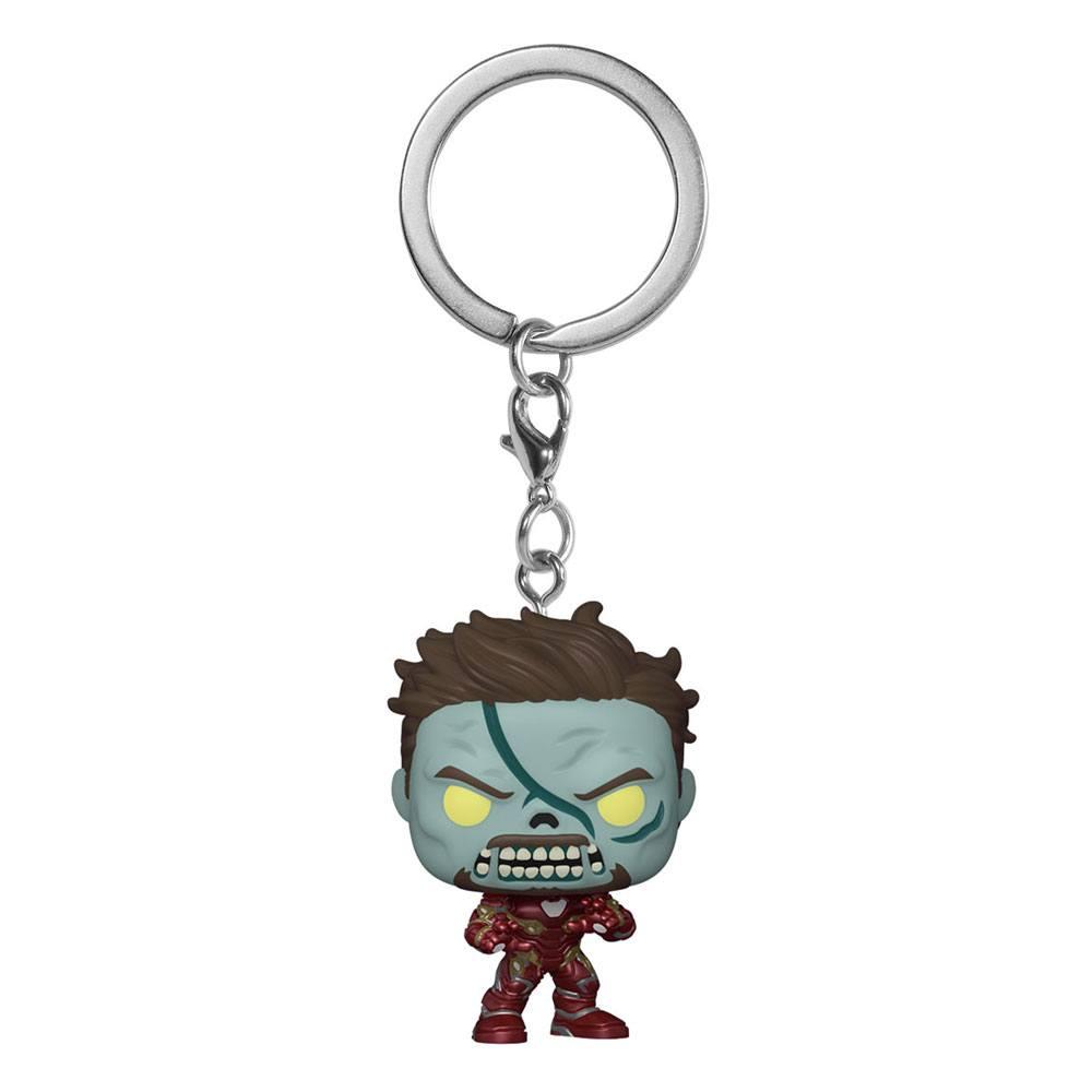 Marvel What If...? Pocket POP! Vinyl Keychains 4 cm Zombie Iron Man Display (12)