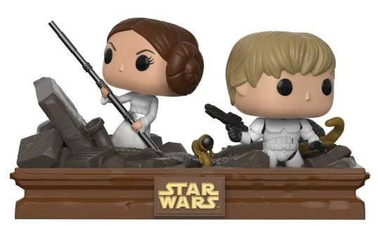 Star Wars POP! Movie Moments Vinyl Bobble-Head 2-Pack Trash Compactor Escape 9 cm