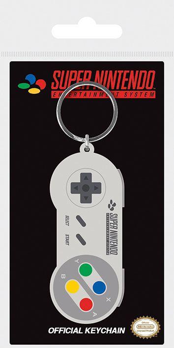 Nintendo Rubber Keychain SNES Controller 6 cm