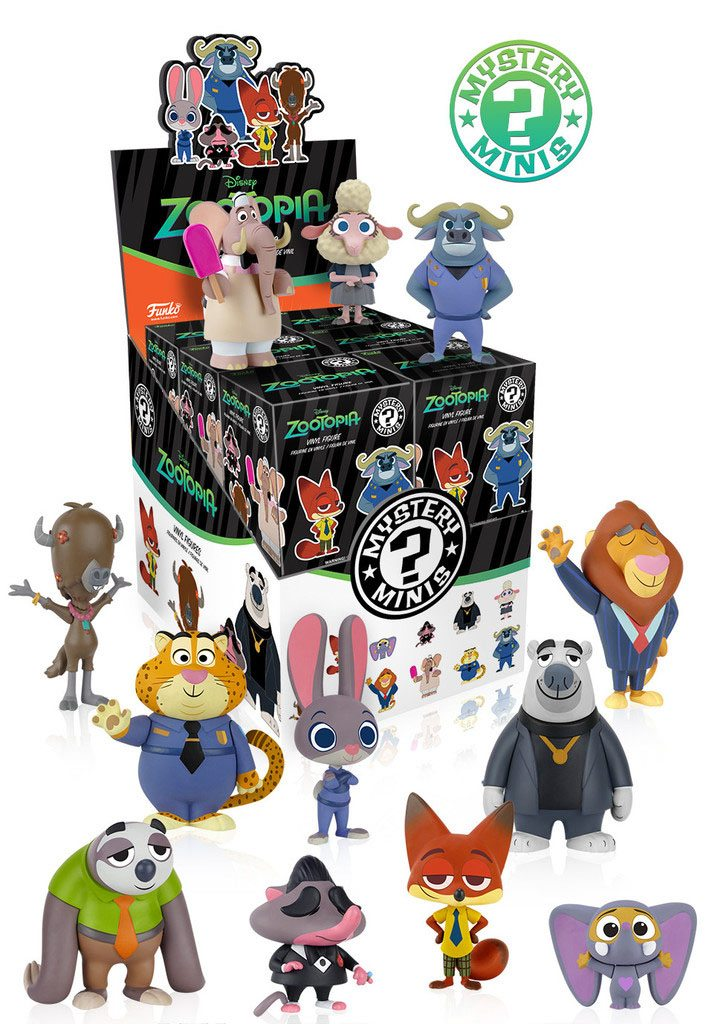 Zootopia / Zootropolis Mystery Mini Figures 6 cm Display (12)