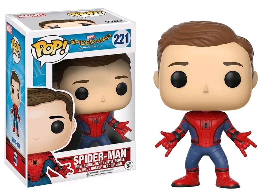 Spider-Man Homecoming POP! Marvel Vinyl Figure Spider-Man (Unmasked) 9 cm