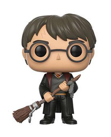Harry Potter POP! Movies Vinyl Figure Harry with Firebolt & Feather 9 cm