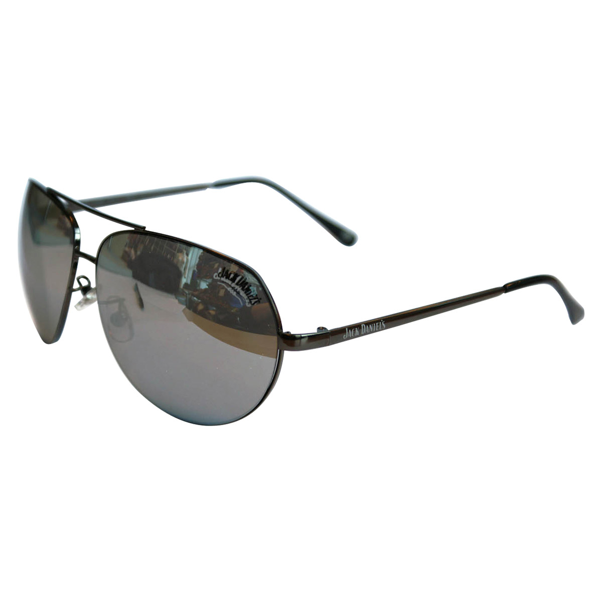 Jack Daniel´s Sunglasses shiny gun/black tips/smoke (silver mirror)