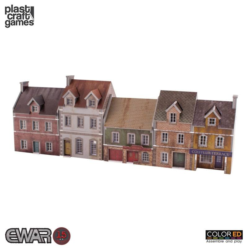 EWAR WWII ColorED Miniature Gaming Model Kit 15 mm Building Set