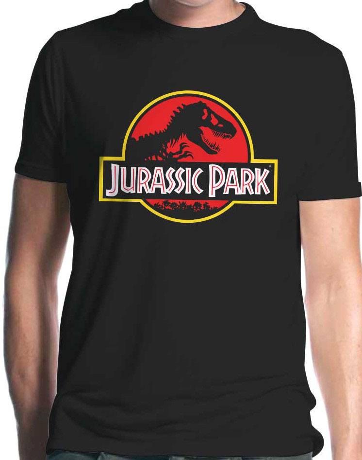 Jurassic Park T-Shirt Classic Logo  Size M