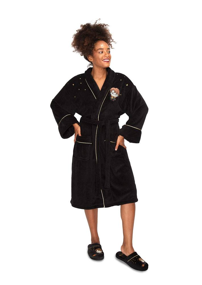 Harry Potter Ladies Fleece Bathrobe Kawaii Harry Potter