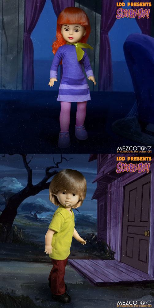 Scooby-Doo & Mystery Inc Build A Figure Living Dead Dolls 25 cm Daphne & Shaggy Assortment (6)