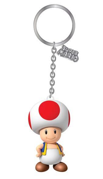 Nintendo 3D PVC Keychain Toad 7 cm