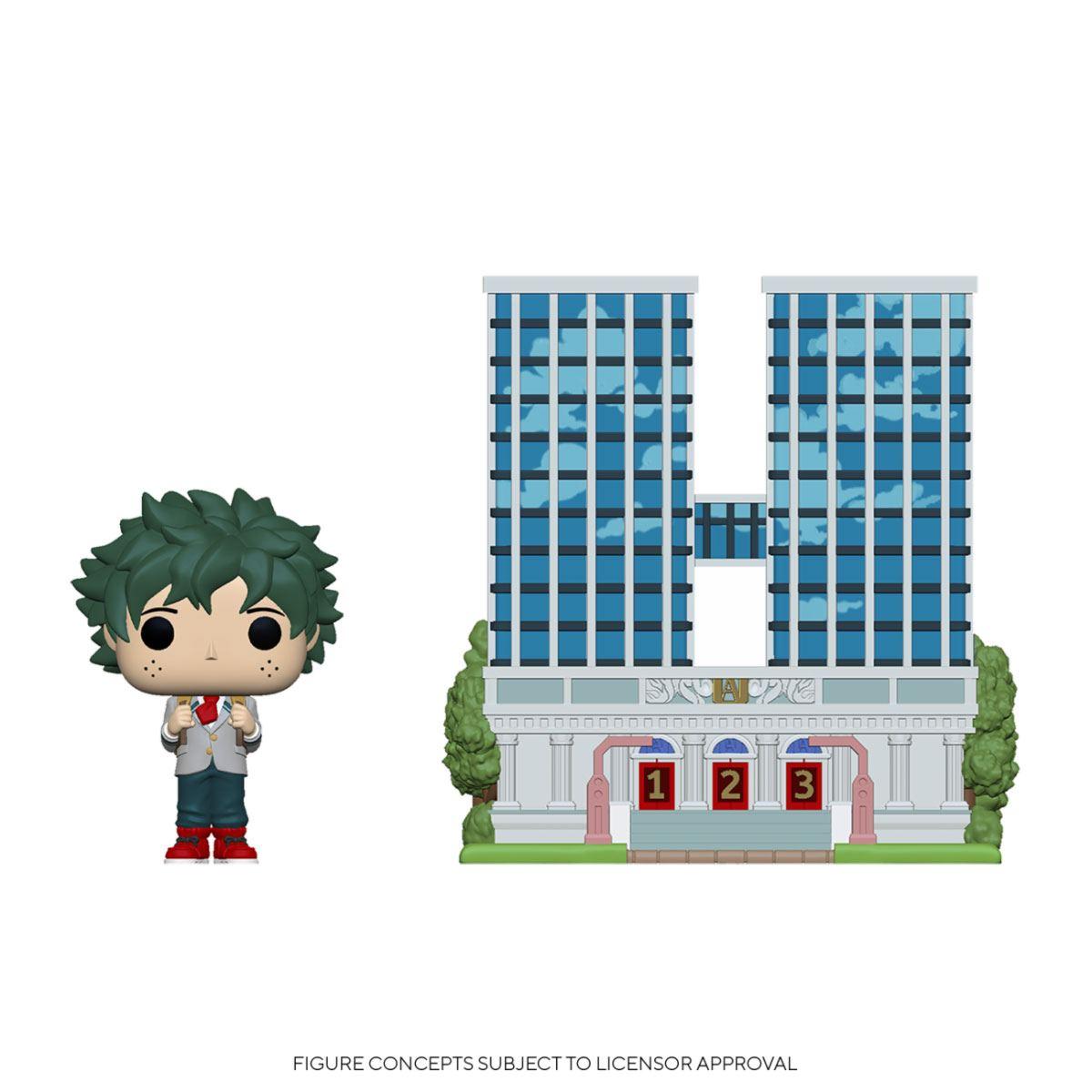My Hero Academia POP! Town Vinyl Figure U.A. High School w/Deku in Uniform 9 cm