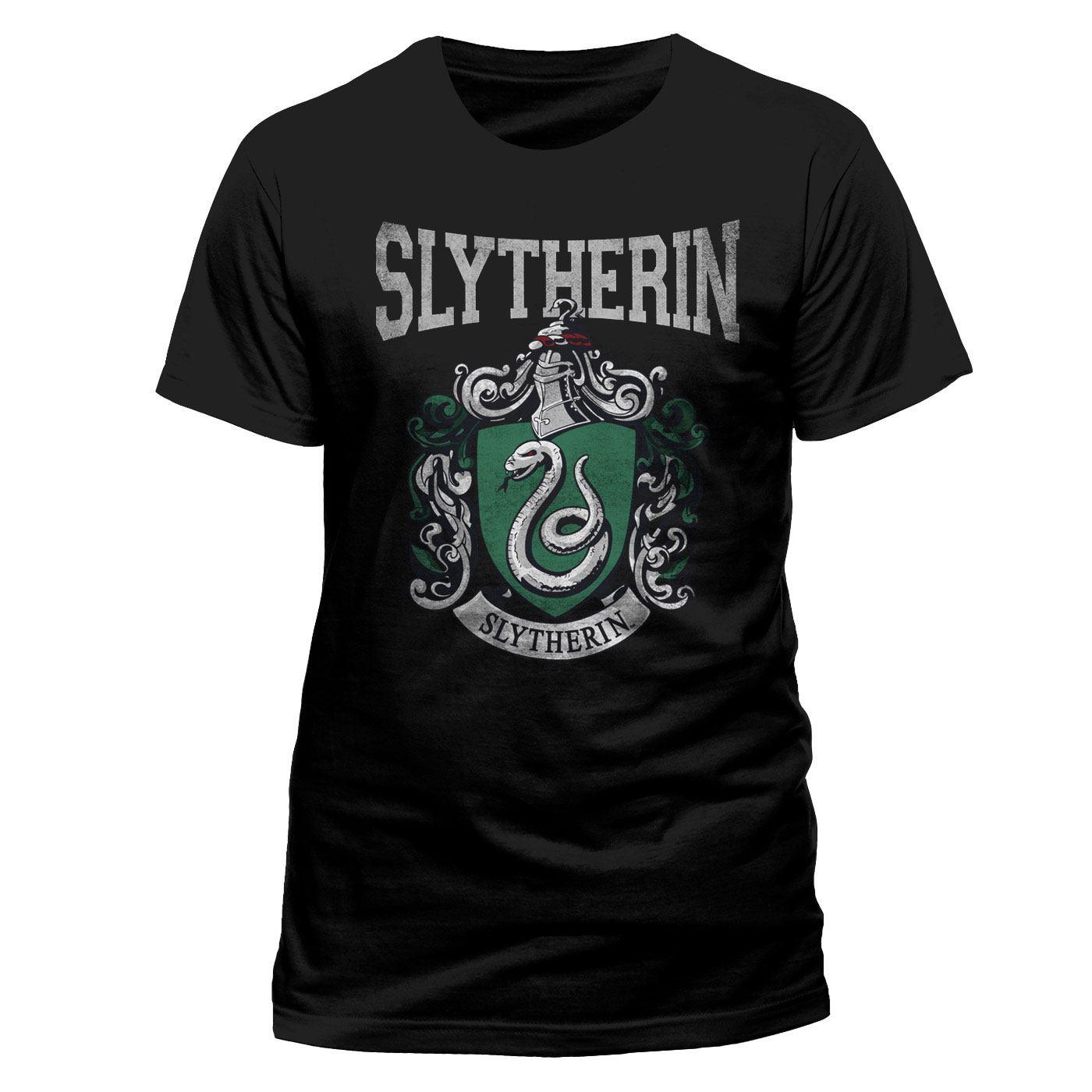 Harry Potter T-Shirt Slytherin Varsity Crest Size L