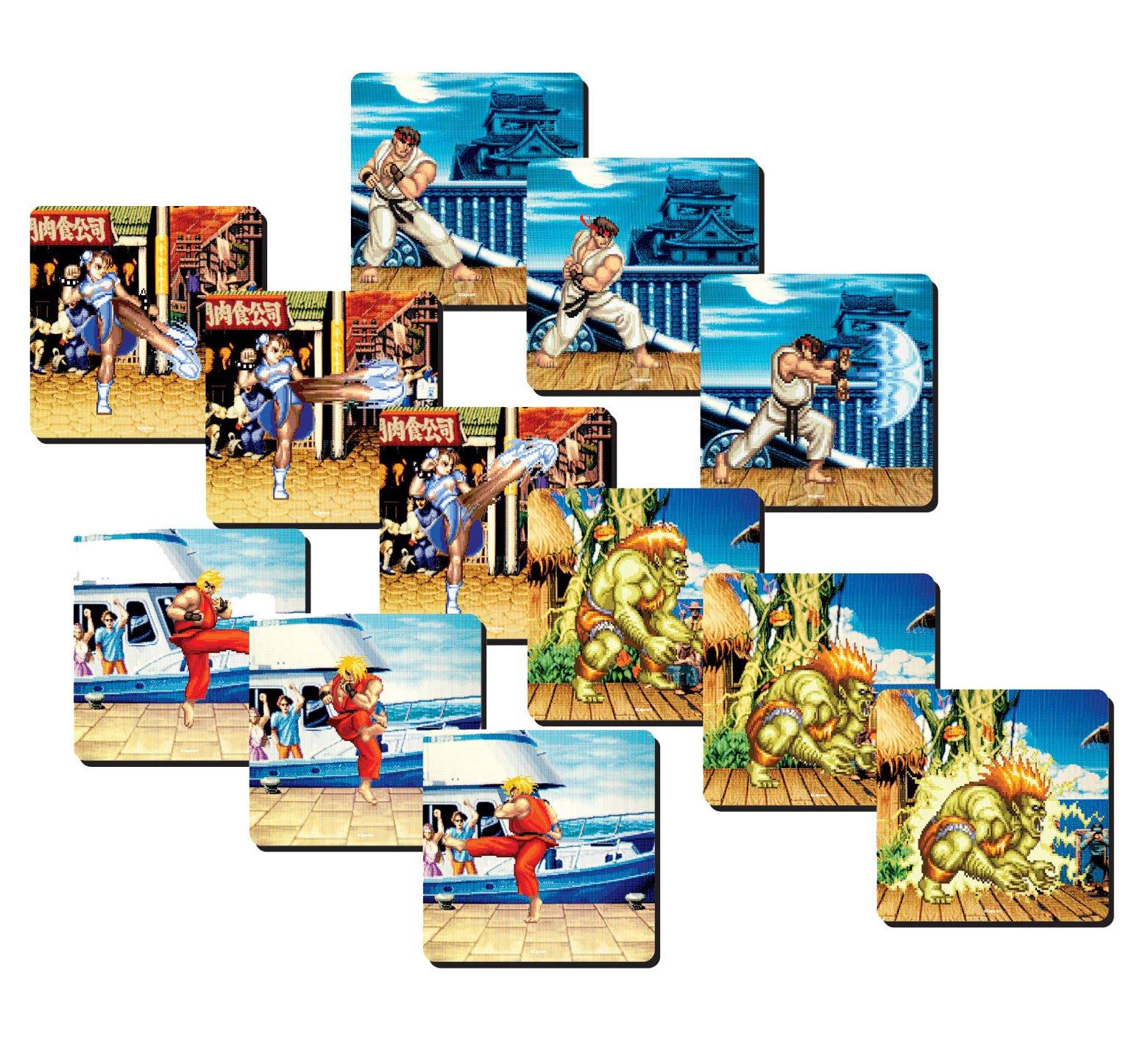 Street Fighter Lenticular Coaster 4-Pack Team