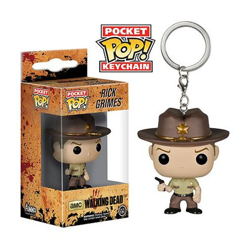 The Walking Dead POP! Vinyl Keychain Rick Grimes 4 cm