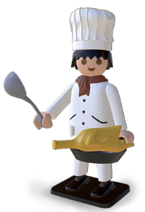 Playmobil Nostalgia Collection Statue Cooker 25 cm