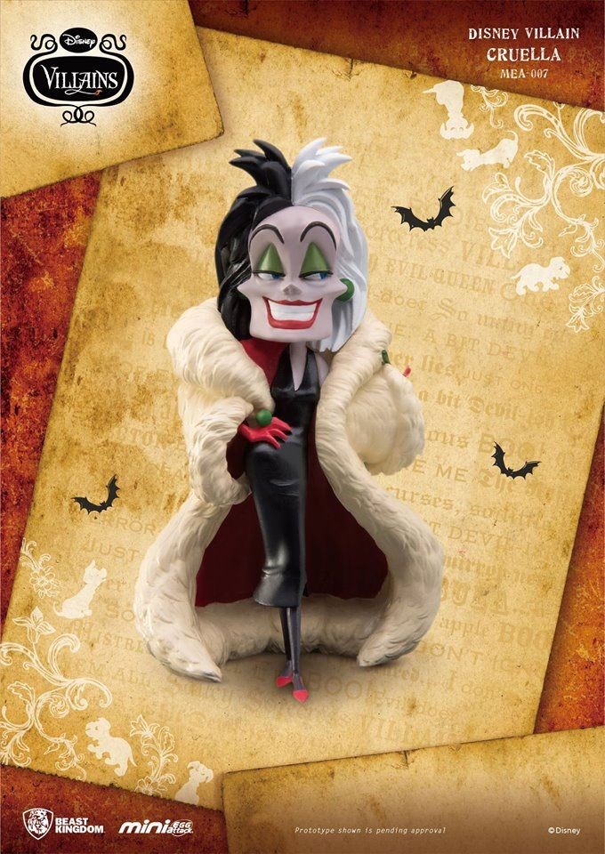 Disney Villains Mini Egg Attack Figure Cruella 8 cm