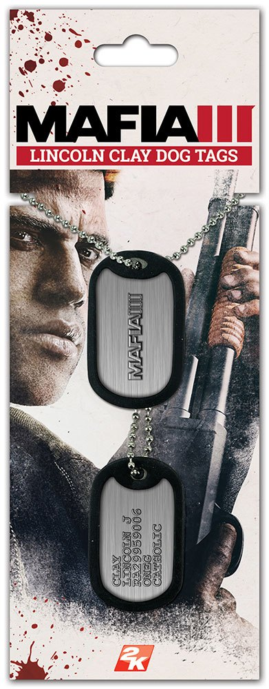Mafia III Dog Tags with ball chain Clay Lincoln