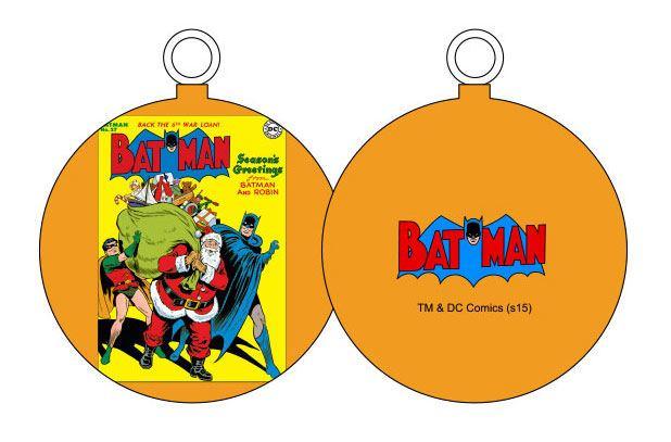 DC Comics Ornament Batman & Santa