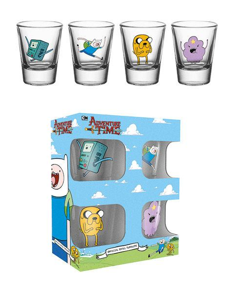 Adventure Time Shotglass 4-Pack