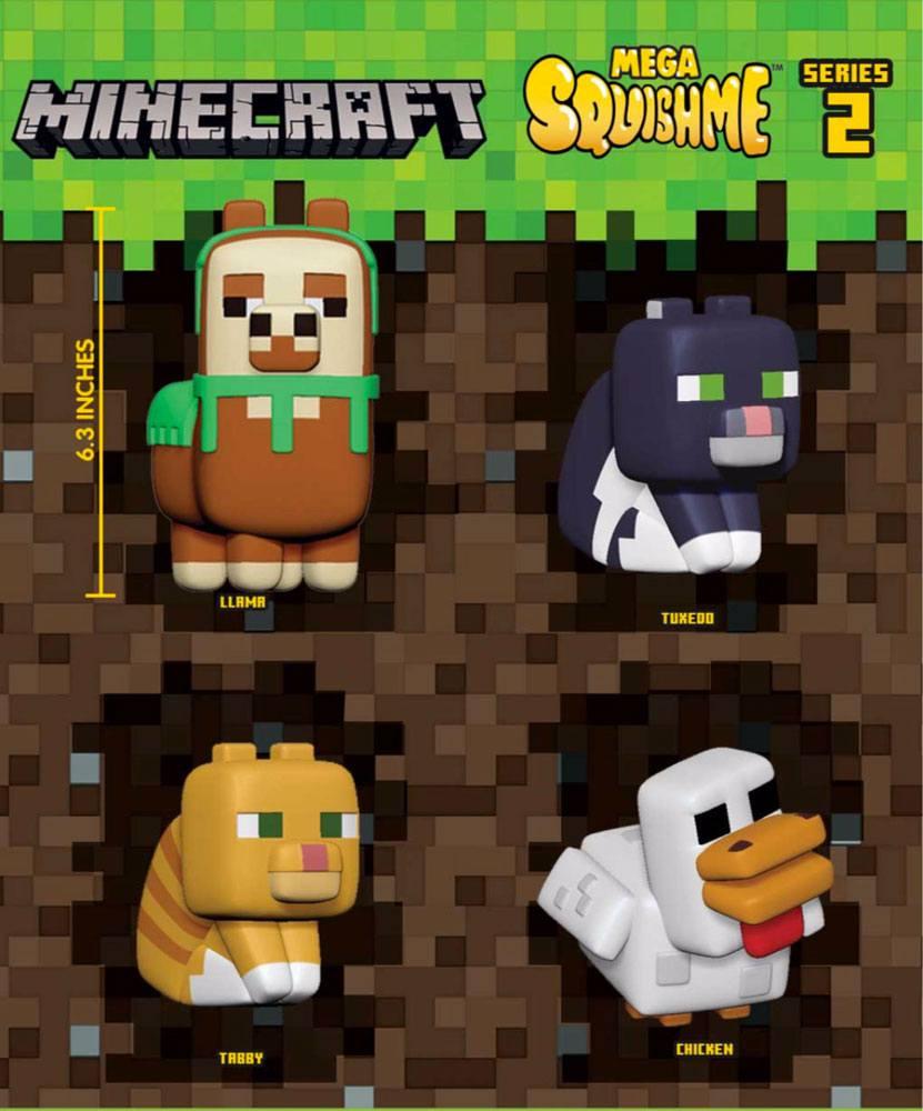 Minecraft Mega Squishme Anti-Stress Figures 16 cm Series 2 Assortment (12)