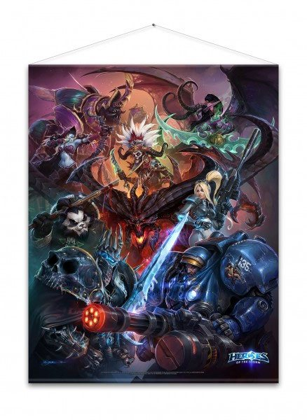 Heroes of the Storm Wallscroll Heroes 100 x 77 cm
