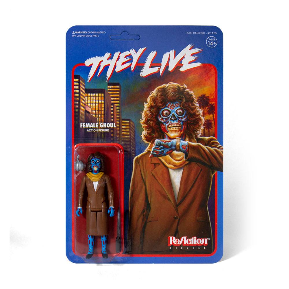They Live ReAction Action Figure Female Ghoul 10 cm