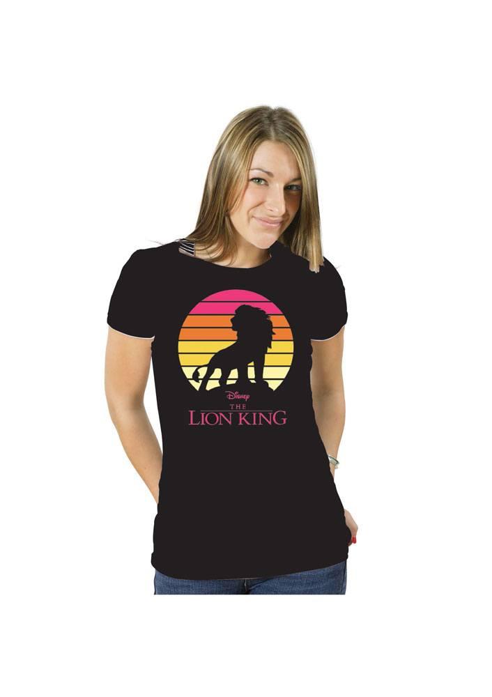 The Lion King Ladies T-Shirt Simba Sunset Size XL