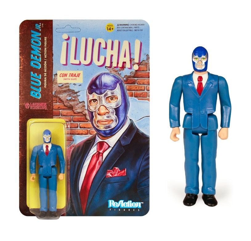 Legends of Lucha Libre ReAction Action Figure Blue Demon Jr. in Suit 10 cm