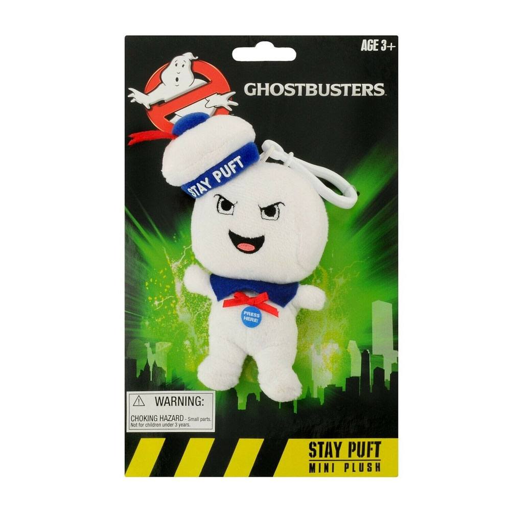 Ghostbusters Talking Plush Keychain Stay-Puft Marshmallow Man Angry 10 cm *English Version*