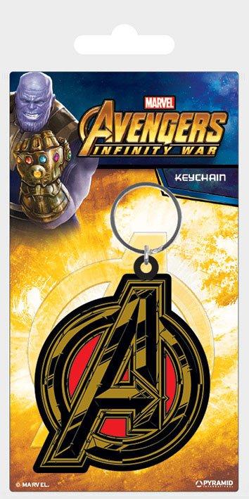 Avengers Infinity War Rubber Keychain Avengers Symbol 6 cm