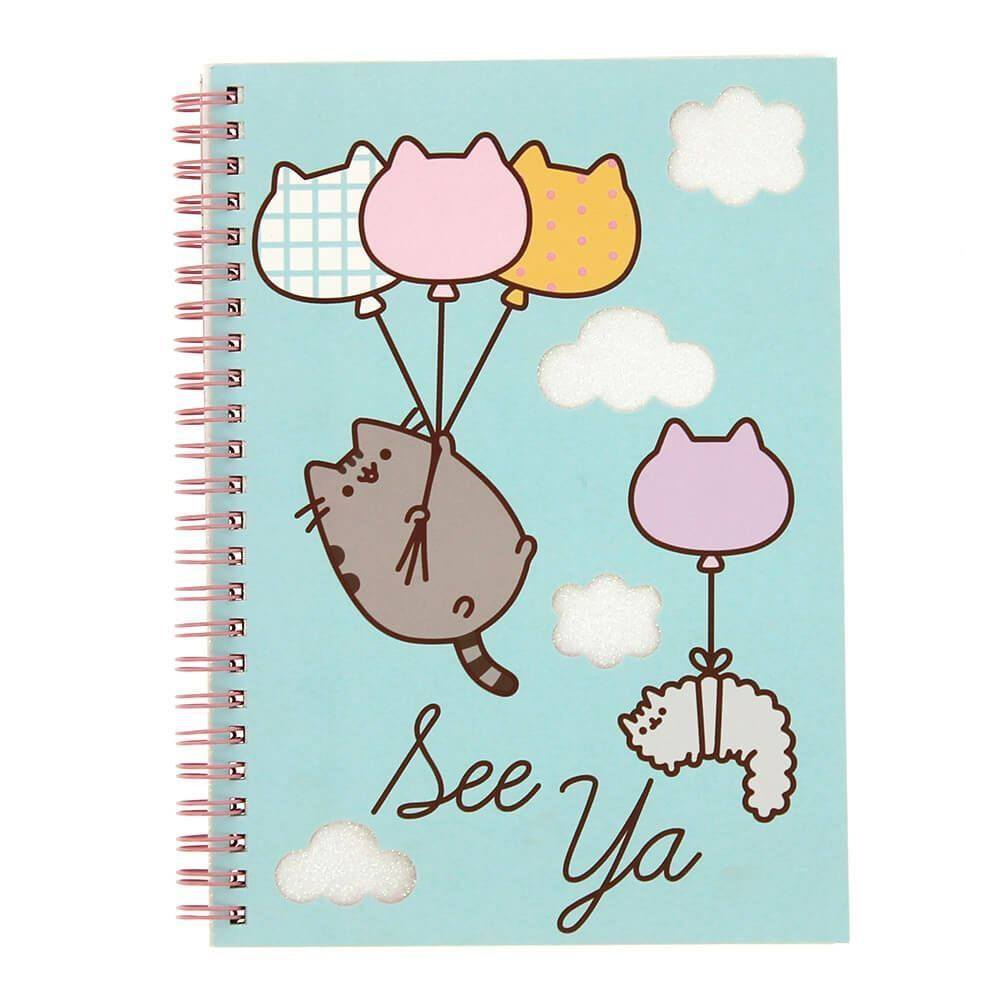 Pusheen Notebook A5 Glitter Balloons
