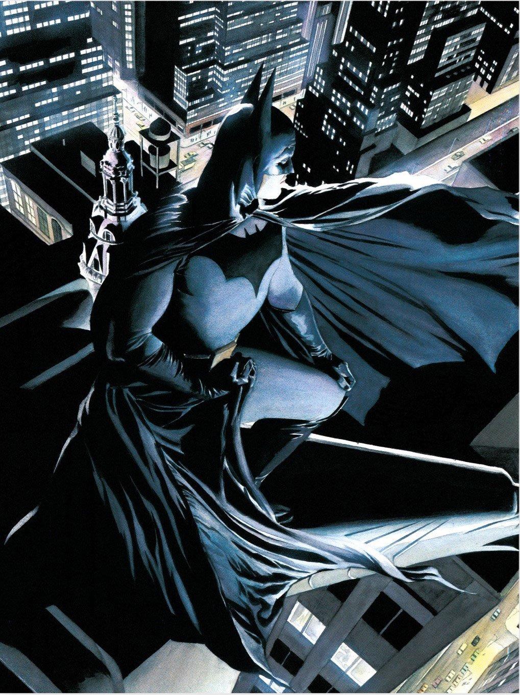 DC Comics Glass Poster Batman Watcher 30 x 40 cm