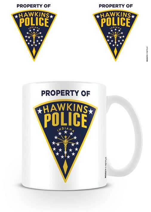 Stranger Things Mug Hawkins Police Badge