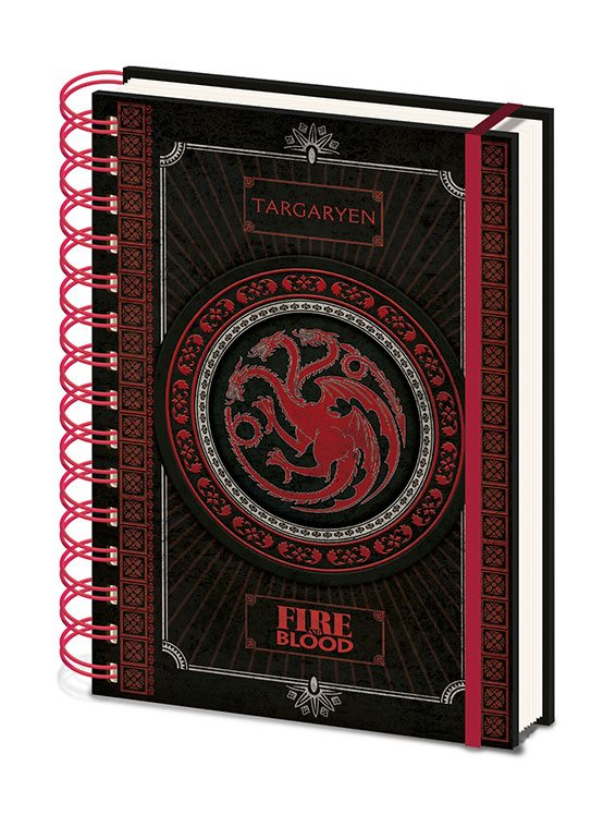 Game of Thrones Wiro Notebook A5 Targaryen